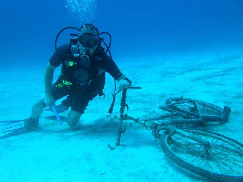 Hasta debajo del agua...